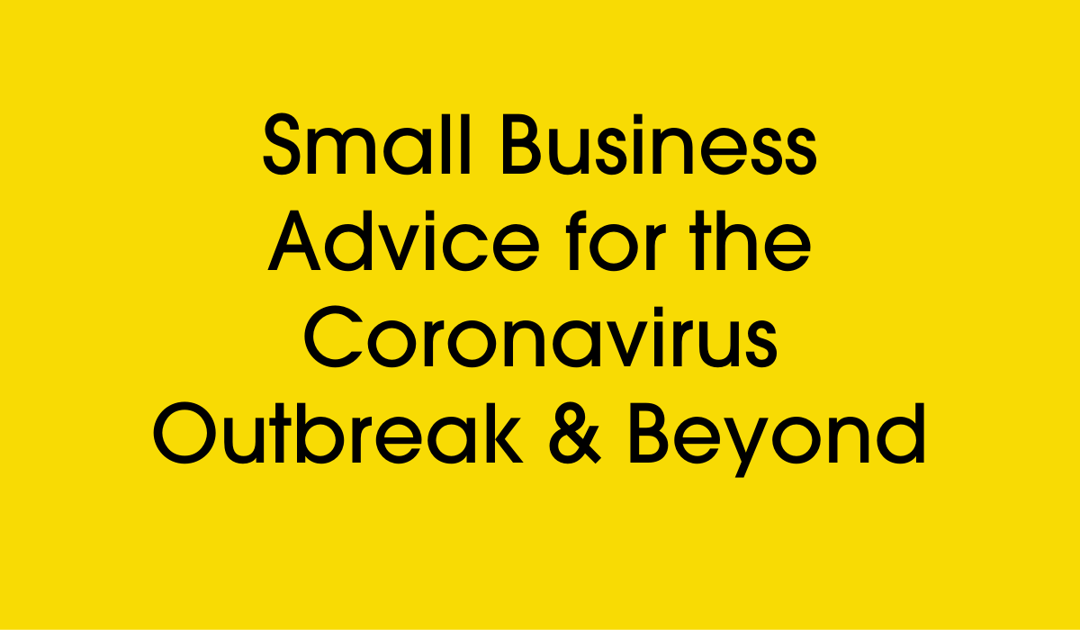 small business advice for the coronavirus and recession